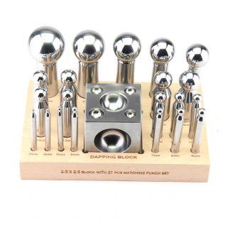 63mm square Dapping block & 21 dapping punch set by splenortools