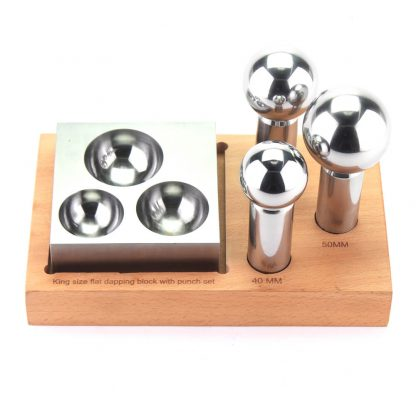 Flat dapping block & 3 dapping punch set by splenortools